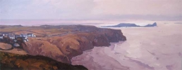 EARLY EVENING ABOVE RHOSSILLI has been sold