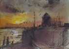 SUNSET AT A HARBOUR ENTRANCE has been sold