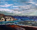 ANGLESEY IN THE DISTANCE FROM TREFOR (11), Price: £695.00, Medium: Acrylic, Size: 20x16ins