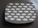 37 CHEESE PLATTER - GREY/WHITE LEAF has been sold