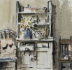 WHITE CARMARTHEN DRESSER, Price: £365.00, Medium: Gouache, Size: 9x7ins