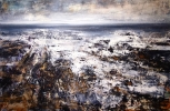 STORM ON THE ROCKS, SULLY, Price: £3200.00, Medium: Oil, acrylic and watercolour ink, Size: 120 X 80 CM