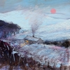 WINTER NIGHT IN THE BRECONS, Price: £295.00, Medium: Oil on panel, Size: 6 X 6 INS