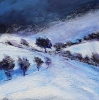 CHRISTMAS EVE, NEAR PICKLESCOTT, SHROPSHIRE, Price: £295.00, Medium: Oil on panel, Size: 6 X 6 INS