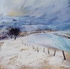 EARLY SNOW FALL IN THE BRECON BEACONS, Price: £295.00, Medium: Oil on panel, Size: 6 X 6 INS