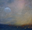 WINTER MOON OVER BRECON, Price: £295.00, Medium: Oil on panel, Size: 6 X 6 INS