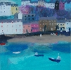 WATERFRONT PORTREE, Price: £1300.00, Medium: Mixed Media, Size: 13x13ins