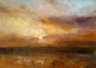 SUNSET ACROSS THE STRAITS, Price: £2500.00, Medium: oil, Size: 19x27ins