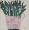 GRAPE HYACINTHS, Price: £1450.00, Medium: oil, Size: 9.5x9.5ins