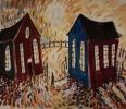 TWO CHAPELS RHONDDA, Price: £310.00, Medium: Mixed Media on paper, Size: 7x9ins