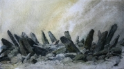 BRYN-CADER-FANER, Price: £800.00, Medium: Watercolour, Size: 28x52cm