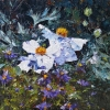 TREE POPPY AND ASTERS, Price: £765.00, Medium: oil, Size: 39X39cm
