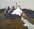 QUARRYMEN'S COTTAGES, Price: £425.00, Medium: Acrylic on canvas, Size: 30x25cm