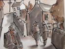 FIGURES, GRAIG ROAD, Price: £495.00, Medium: Ink Wash, Size: 8x10ins