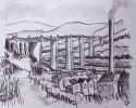 THE WALNUT TREE VIADUCT, Price: £450.00, Medium: Ink and Wash, Size: 10x12ins