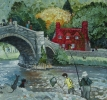 BRIDGE, LLANRWST, NORTH WALES, Price: £1300.00, Medium: Acrylic, Size: 11x11ins
