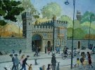 BUTE PARK GATEWAY, CARDIFF, Price: £2950.00, Medium: Acrylic, Size: 19.5x27.5ins