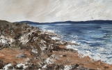 OGMORE BY SEA, Price: £245.00, Medium: Acrylic, Size: 27X16.5cm