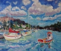 CLOUDS BILLOWING OVER DARTMOUTH, Price: £850.00, Medium: Oil on Board, Size: 20x20ins