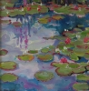 WATER LILIES, Price: £495.00, Medium: Oil on Board, Size: 12x12ins