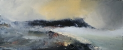 WEST WALES HEADLAND STORM, Price: £725.00, Medium: Oil on Board, Size: 23x53cm