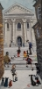 CHAPEL STEPS, CARMARTHEN, Price: £900.00, Medium: Acrylic on canvas, Size: 12x6ins