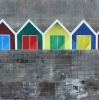 BARRY BEACH HUTS, Price: £850.00, Medium: Acrylic, Size: 35x35cm