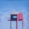 PINK HUT, Price: £950.00, Medium: Acrylic, Size: 37x37cm