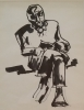 MAN READING, Price: £850.00, Medium: Ink Wash