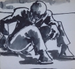 MAN RESTING , Price: £850.00, Medium: Ink Wash
