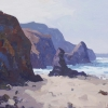 MORNING, LLANGRANNOG by GARETH THOMAS, Price: £950.00, Medium: Acrylic, Size: 16x16ins