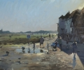 PLAYING IN A PUDDLE, BOSHAM by PETER BROWN NEAC (has been sold)