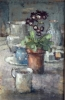 AURICULA AND COFFEE CAN by ANDREW DOUGLAS-FORBES (has been sold)