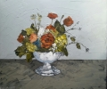 BOWL OF FLOWERS by MARTIN LLEWELLYN (has been sold)