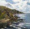 CLIFFS NEAR STACKPOLE, FRESHWATER by MARTIN LLEWELLYN (has been sold)