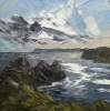CLOUDY SKY, THREE CLIFFS by MARTIN LLEWELLYN (has been sold)