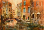 LATE AUTUMN IN VENICE by MIKE BERNARD RI, Price: £1700.00, Medium: Mixed Media, Size: 39x57cms
