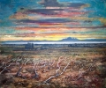 LAGO VIEDMA SUNSET-PATAGONIA by PETER KETTLE FRSA RCA, Price: £3450.00, Medium: Mixed Media, Size: 100X120cm