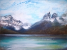 LAKE PEHOE, TORRES DEL PAINE-PATAGONIA (CHILE) by PETER KETTLE FRSA RCA, Price: £2250.00, Medium: Mixed Media, Size: 60X80cm