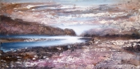 LAS VUELTAS RIVER, EL CHALTEN-PATAGONIA by PETER KETTLE FRSA RCA, Price: £1750.00, Medium: Mixed Media, Size: 40X80cm
