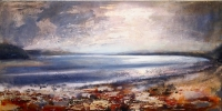 LAUGHARNE ESTUARY by PETER KETTLE FRSA RCA, Price: £2450.00, Medium: Mixed Media, Size: 50X100cm
