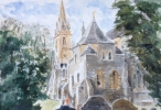 LLANDAFF CATHEDRAL, THE CHAPTER HOUSE by COLIN BISHOP, Price: £280.00, Medium: Watercolour, Size: 10.5x14.5cm
