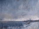 LLANDDWYN LIGHTHOUSE AT DUSK by MIKE CARTER, Price: £575.00, Medium: Mixed Media, Size: 30x40cm