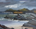 ON HOLY ISLAND by DAVID BARNES, Price: £875.00, Medium: oil, Size: 16X20ins