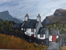MOELWYN COTTAGE by DAVID BARNES, Price: £675.00, Medium: oil, Size: 16X12ins