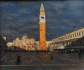 PIAZZA SAN MARCO-EVENING SHADOWS by IAN HARGREAVES, Price: £1950.00, Medium: oil, Size: 48x58cm